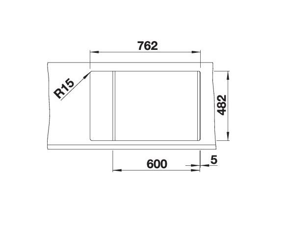 Blanco Livit 6 S Compact 515117 Anderhalve Spoelbak Rvs Omkeerbaar Opbouw