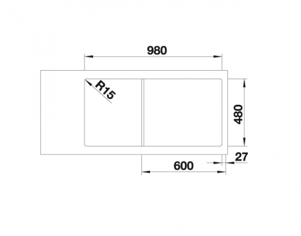 Blanco Classimo Xl 6 S-If 525327 Spoelbak Rvs Inclusief Pushcontrol Bediening Omkeerbaar Vlakbouw Of Opbouw