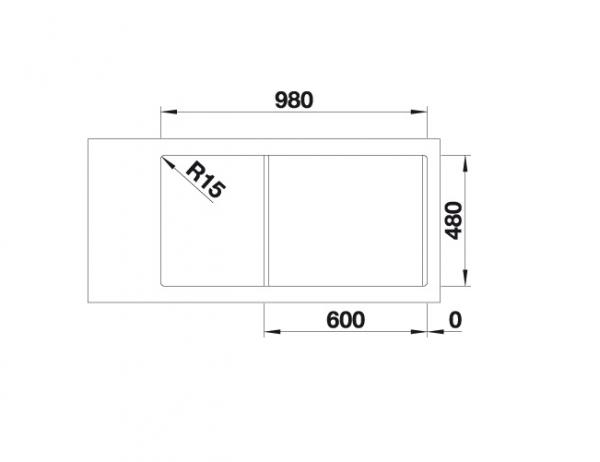 Blanco Classimo 6 S-If 525328 Anderhalve Spoelbak Rvs Inclusief Pushcontrol Bediening Omkeerbaar Vlakbouw Of Opbouw