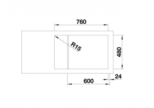 Blanco Lemis Xl 6 S-If Compact 525111 Spoelbak Rvs Omkeerbaar Vlakbouw Of Opbouw