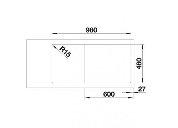 Blanco Lemis Xl 6 S-If 523035 Spoelbak Rvs Inclusief Draaiknopbediening Omkeerbaar Vlakbouw Of Opbouw