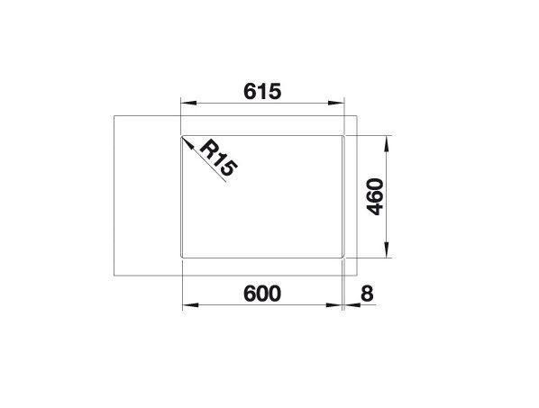 Blanco Supra 340/180-If/a 523368 Anderhalve Spoelbak Rvs Vlakbouw Of Opbouw