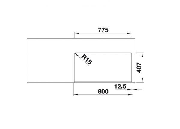 Blanco Cronos Xl 8-If 523381 Spoelbak Rvs Vlakbouw Of Opbouw