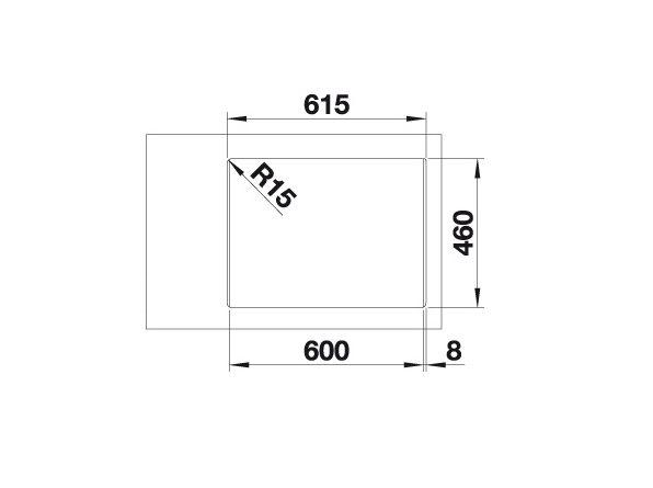 Blanco Supra 340/180-If/a 523367 Anderhalve Spoelbak Rvs Inclusief Draaiknopbediening Vlakbouw Of Opbouw