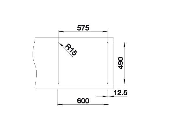 Blanco Andano 340/180-If/a 522996 Anderhalve Spoelbak Rvs Inclusief Draaiknopbediening Vlakbouw Of Opbouw