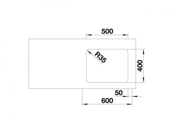 Blanco Etagon 500-U 521750 Spoelbak Rvs Inclusief Draaiknopbediening Inclusief Rails Onderbouw