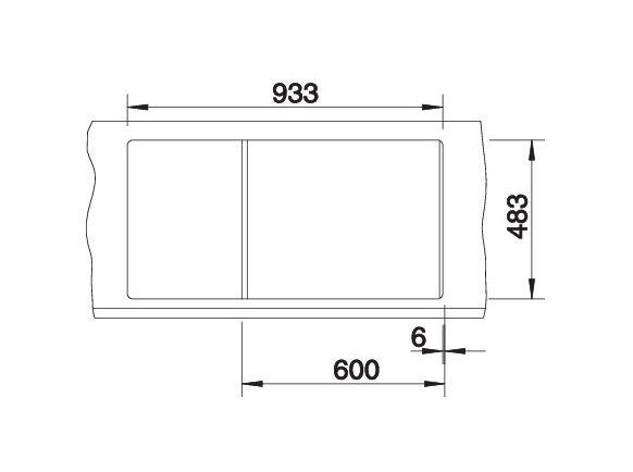 Blanco Tipo 6 S 511580 Anderhalve Spoelbak Rvs Omkeerbaar Opbouw
