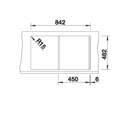 Blanco Tipo 45 S 513015 Spoelbak Rvs Omkeerbaar Opbouw