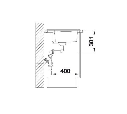 Blanco Zenar Xl 6 S 523999 Spoelbak Links Silgranit Parelgrijs Inclusief Draaiknopbediening Onderbouw Of Opbouw