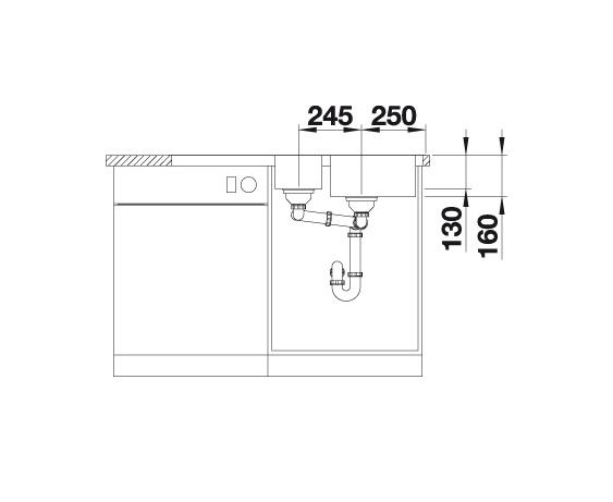 Blanco Lantos 6 S-If 519721 Anderhalve Spoelbak Rvs Omkeerbaar Vlakbouw Of Opbouw