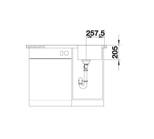 Blanco Classimo 45 S-If 525330 Spoelbak Rvs Inclusief Pushcontrol Bediening Omkeerbaar Vlakbouw Of Opbouw