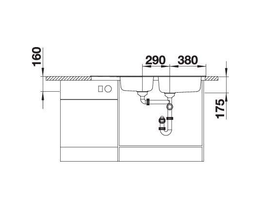 Blanco Tipo Xl 9 S 511927 Dubbele Spoelbak Rvs Omkeerbaar Opbouw