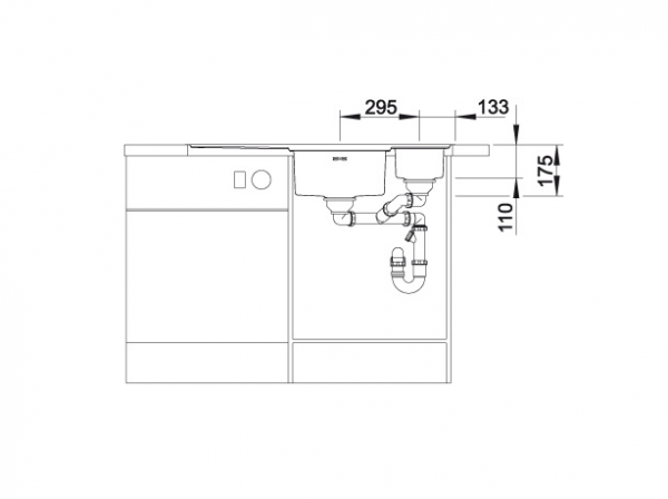 Blanco Axis Iii 6 S-If Edition 522107 Anderhalve Spoelbak Links Rvs Inclusief Draaiknopbediening Inclusief Houten Snijplank Vlakbouw Of Opbouw