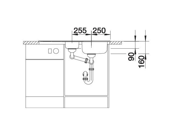 Blanco Tipo 6 S Basic 512300 Anderhalve Spoelbak Rvs Omkeerbaar Opbouw