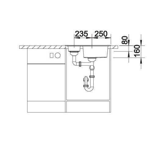 Blanco Tipo 6 Basic 514813 Anderhalve Spoelbak Rvs Omkeerbaar Opbouw