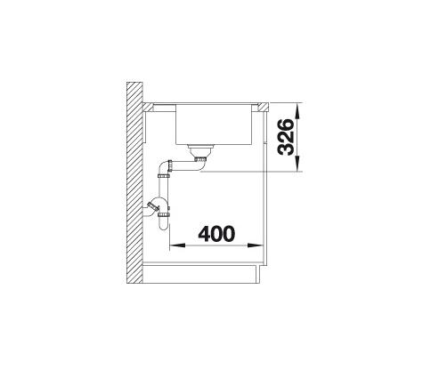 Blanco Zenar 5 S-F 523875 Spoelbak Rechts Silgranit Aluminium Metallic Inclusief Draaiknopbediening Vlakbouw Of Onderbouw