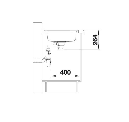 Blanco Lantos 9 E-If 516277 Spoelbak Rvs Inclusief Draaiknopbediening Vlakbouw Of Opbouw