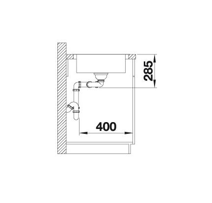 Blanco Lantos 8 S-If 519714 Compact Spoelbak Rvs Vlakbouw Of Opbouw