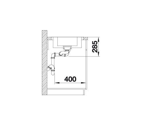 Blanco Lantos 6 S-If 519719 Anderhalve Spoelbak Rvs Inclusief Draaiknopbediening Omkeerbaar Vlakbouw Of Opbouw