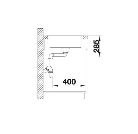 Blanco Lantos 45 S-If Salto 519707 Spoelbak Rvs Inclusief Draaiknopbediening Omkeerbaar Vlakbouw Of Opbouw
