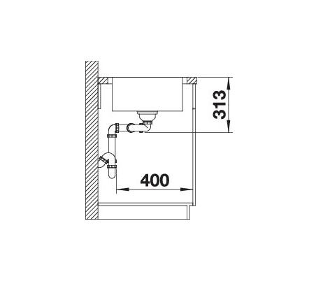 Blanco Classimo 8-If 525331 Dubbele Spoelbak Rvs Inclusief Pushcontrol Bediening Omkeerbaar Vlakbouw Of Opbouw