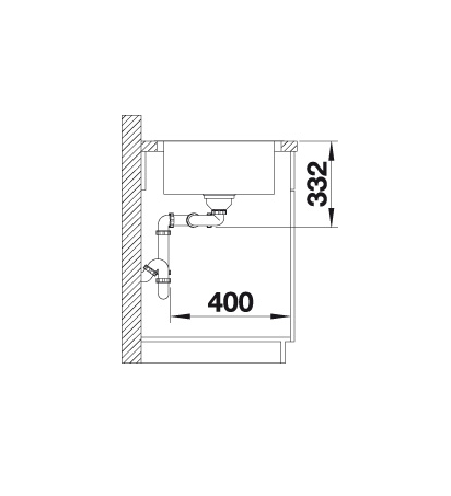 Blanco Lemis 8 S-If 523036 Dubbele Spoelbak Rvs Omkeerbaar Vlakbouw Of Opbouw
