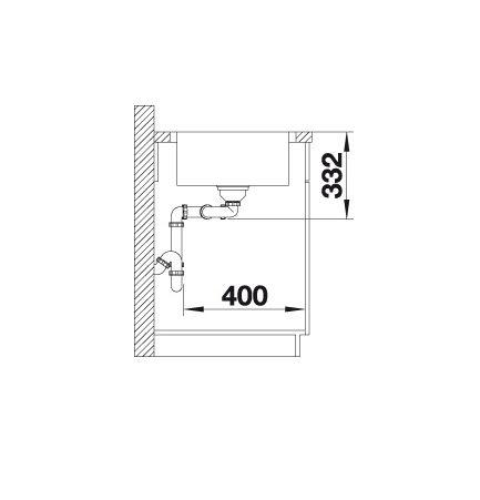 Blanco Lemis 8-If 523039 Dubbele Spoelbak Rvs Vlakbouw Of Opbouw