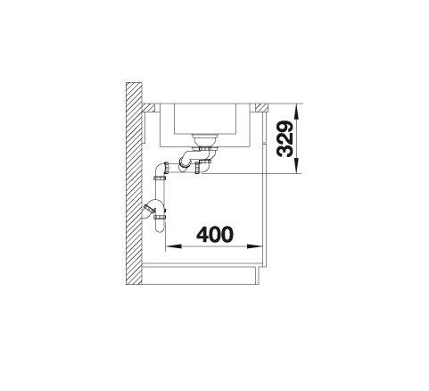 Blanco Lemis 6 S-If 523033 Anderhalve Spoelbak Rvs Inclusief Draaiknopbediening Omkeerbaar Vlakbouw Of Opbouw