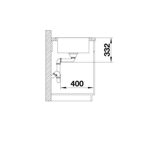 Blanco Lemis 45 S-If Mini 525115 Spoelbak Rvs Omkeerbaar Vlakbouw Of Opbouw
