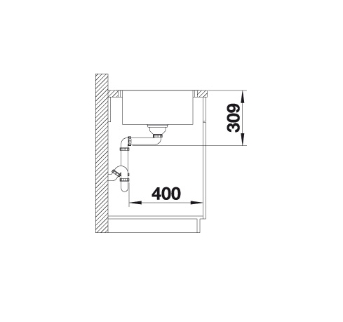 Blanco Lemis 45 S-If Mini 525114 Spoelbak Rvs Inclusief Draaiknopbediening Omkeerbaar Vlakbouw Of Opbouw