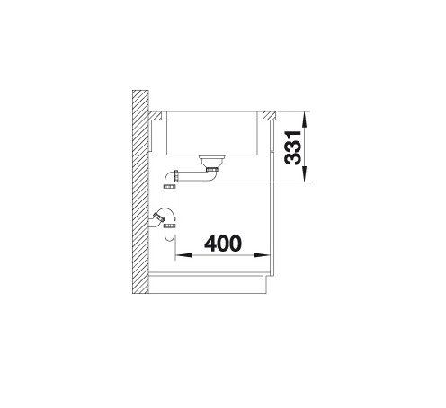 Blanco Lemis 45 S-If 523030 Spoelbak Rvs Omkeerbaar Vlakbouw Of Opbouw