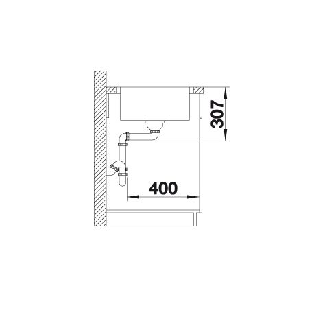 Blanco Lemis 45 S-If 523031 Spoelbak Rvs Inclusief Draaiknopbediening Omkeerbaar Vlakbouw Of Opbouw
