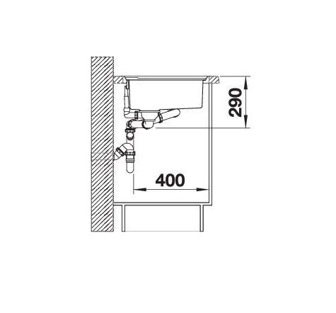 Blanco Axis Iii 6 S-If Edition 522106 Anderhalve Spoelbak Rechts Rvs Inclusief Draaiknopbediening Inclusief Houten Snijplank Vlakbouw Of Opbouw