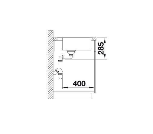 Blanco Supra 500-If/a 523363 Spoelbak Rvs Vlakbouw Of Opbouw