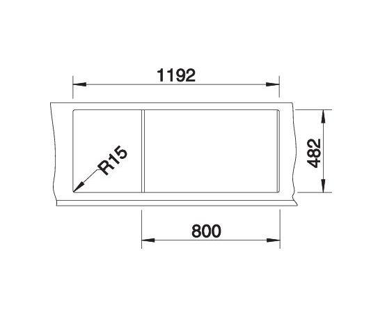 Blanco Tipo 8 S 513014 Dubbele Spoelbak Rvs Omkeerbaar Opbouw