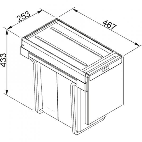 Franke-Cube-30-Afvalemmer-Afvalsysteem