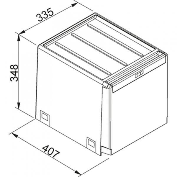 Franke Cube 40 Afvalemmer 134.0039.330Afvalsysteem