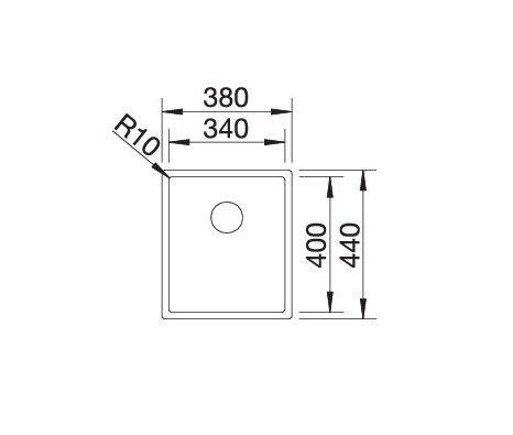 Blanco Claron 340-U Durinox 523384 Spoelbak Rvs Onderbouw