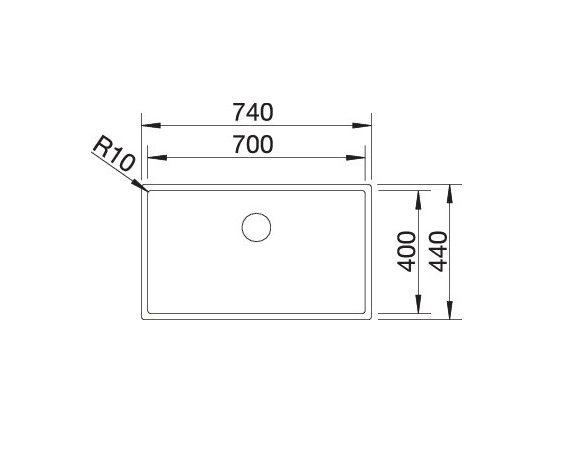 Blanco Claron 700-U Durinox 523387 Spoelbak Rvs Onderbouw