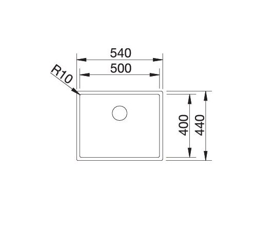 Blanco Claron 500-U Durinox 523386 Spoelbak Rvs Onderbouw