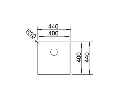 Blanco Claron 400-U Durinox 523385 Spoelbak Rvs Onderbouw