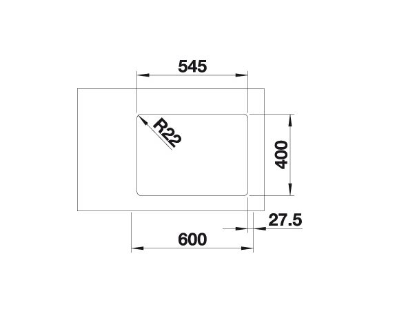 Blanco Andano 340/180-U 522978 Anderhalve Spoelbak Rechts Rvs Inclusief Draaiknopbediening Onderbouw