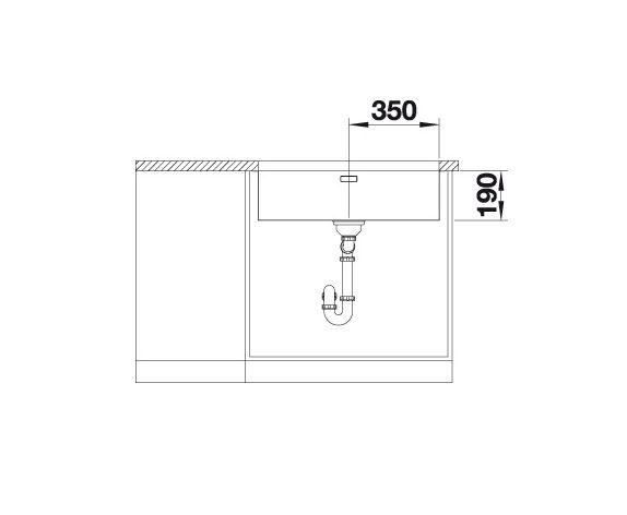 Blanco Andano 700-U 522972 Spoelbak Rvs Inclusief Draaiknopbediening Onderbouw