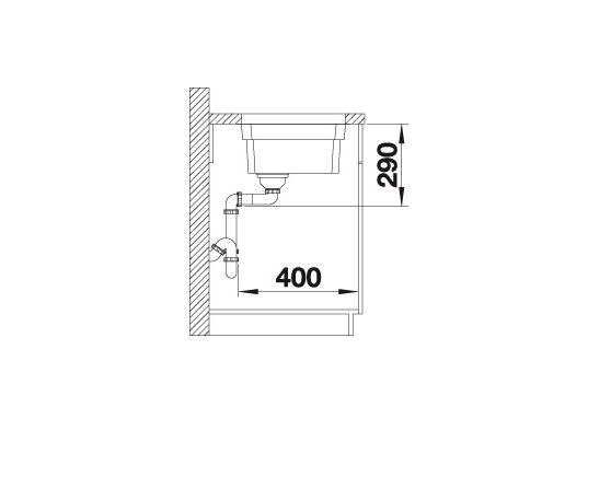 Blanco Etagon 700-U 524270 Spoelbak Rvs Inclusief Rails Inclusief Draaiknopbediening Onderbouw